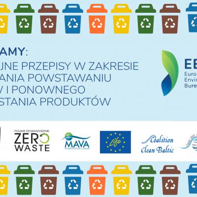 <small>Nowe unijne przepisy w zakresie zapobiegania powstawaniu odpadów <p> i ponownego wykorzystywania produktów </small>