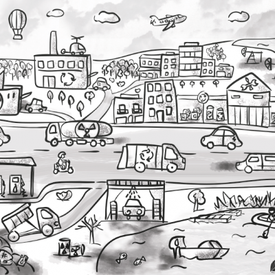 Zadania – zabawy o zrównoważonym transporcie